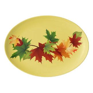 Autumn Leaves Porcelain Platter