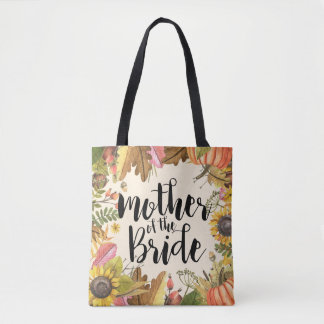 Autumn Leaves Pumpkin Wedding Mother of the Bride Tote Bag