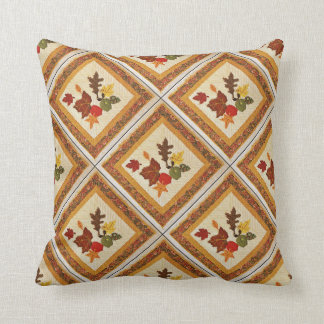 Autumn Leaves Quilt Polyester Throw Pillow