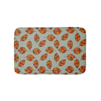 Autumn Leaves Red Leaf Pattern on any Color Bath Mats