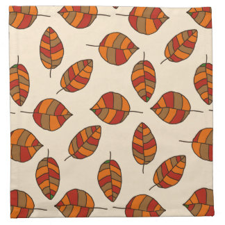 Autumn Leaves Red Leaf Pattern on any Color Cloth Napkins