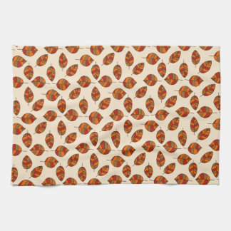Autumn Leaves Red Leaf Pattern on any Color Kitchen Towels