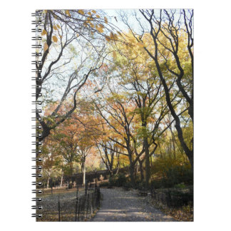 Autumn Leaves Riverside Park New York City NYC Spiral Notebook