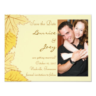 Autumn Leaves - Save the Date Card 11 Cm X 14 Cm Invitation Card