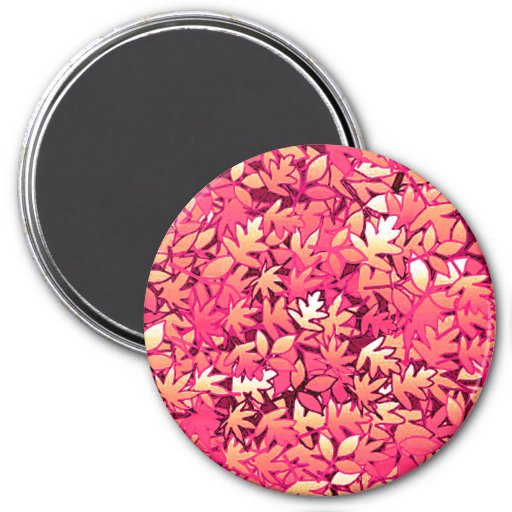 Autumn leaves, shades of red and orange refrigerator magnet