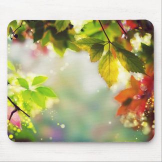Autumn, leaves, sheets, colored mouse pad