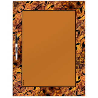 Autumn Leaves Silhouette Modern Pattern Dry Erase Board