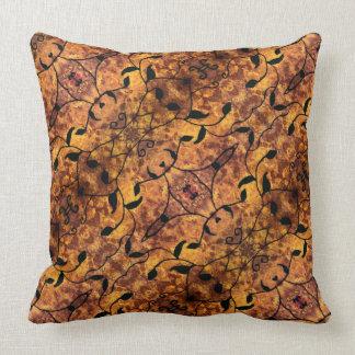 Autumn Leaves Silhouette Pattern Cushion