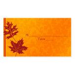 Autumn Leaves Special Occasion Place Cards Pack Of Standard Business Cards