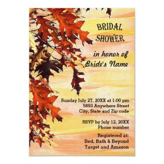 Autumn Leaves Swirl Color Bridal Shower Invitation