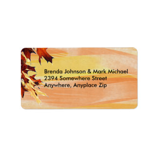 Autumn Leaves Swirl Colour Address Labels