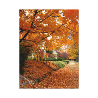 Autumn Leaves Two Photograph Canvas Canvas Print