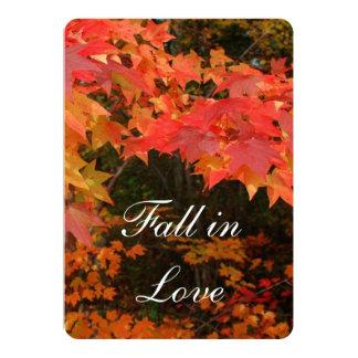 Autumn Leaves Wedding Bridal Shower Invitation