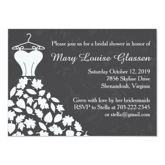 Autumn Leaves Wedding Dress Bridal Shower Announcements