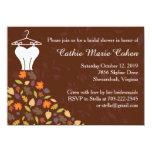 Autumn Leaves Wedding Dress Bridal Shower 11 Cm X 16 Cm Invitation Card