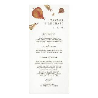 Autumn Leaves Wedding Menu Card