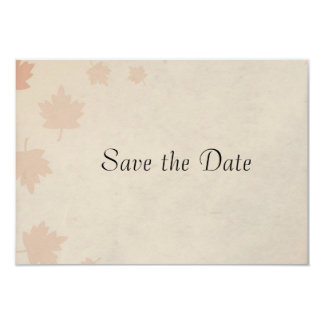 Autumn Leaves Wedding Save the Date 9 Cm X 13 Cm Invitation Card