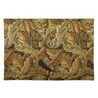 Autumn leaves William Morris pattern Place Mats