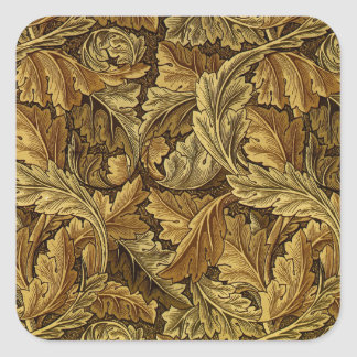 Autumn leaves William Morris pattern Square Sticker