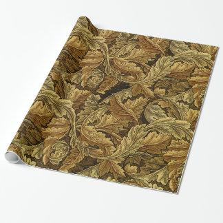 Autumn leaves William Morris vintage pattern