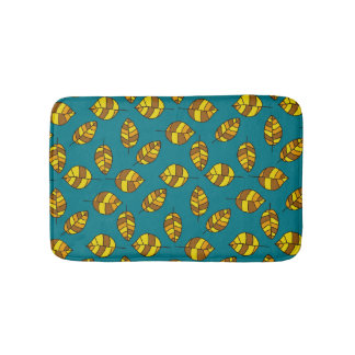 Autumn Leaves Yellow Leaf Pattern on any Color Bath Mats