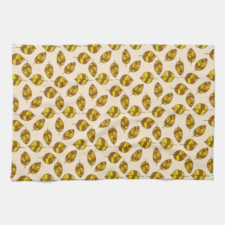 Autumn Leaves Yellow Leaf Pattern on any Color Towel