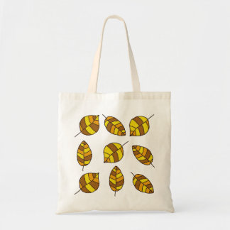 Autumn Leaves Yellow Leaf Pattern Budget Tote Bag