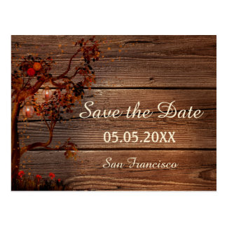 Autumn Lights Save the Date Postcard