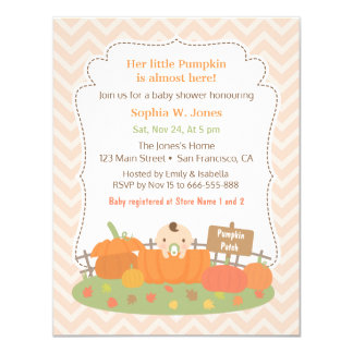 Autumn Little Pumpkin Baby Shower Invitations