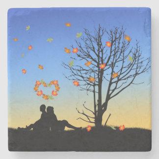 Autumn Love - Marble Stone Coaster
