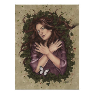 Autumn Magic Butterfly Poster