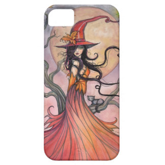 Autumn Magic Witch and Cat Fantasy Art Case For The iPhone 5