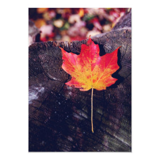 Autumn Maple Leaf 13 Cm X 18 Cm Invitation Card