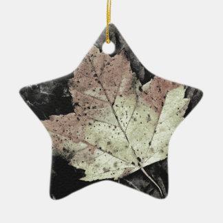 Autumn Maple Leaf Art Ceramic Ornament