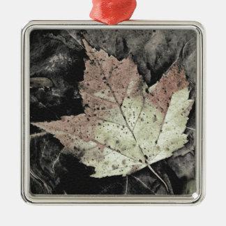 Autumn Maple Leaf Art Metal Ornament