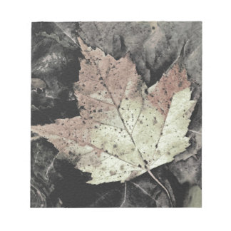 Autumn Maple Leaf Art Notepad