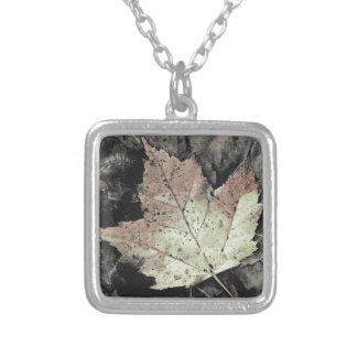 Autumn Maple Leaf Art Silver Plated Necklace