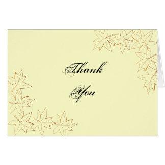 Autumn Maple Leaf Edge Thank You Note Card