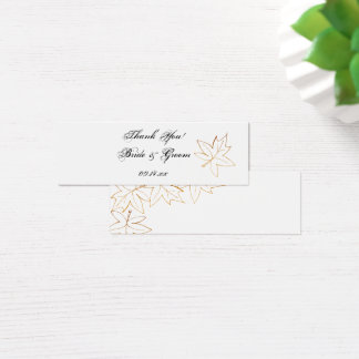 Autumn Maple Leaf Edge Wedding Favor Tags