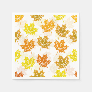 Autumn Maple Leaf Fall Foliage Thanksgiving Party Paper Napkins