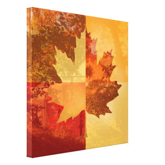 Autumn Maple Leaf Gallery Wrap Canvas