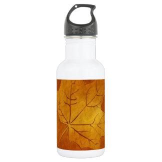 Autumn Maple Leaf in Gold 532 Ml Water Bottle