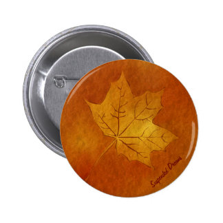 Autumn Maple Leaf in Gold Buttons