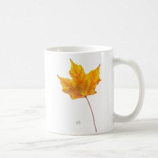 Autumn Maple Leaf in Shades of Gold Coffee Mug