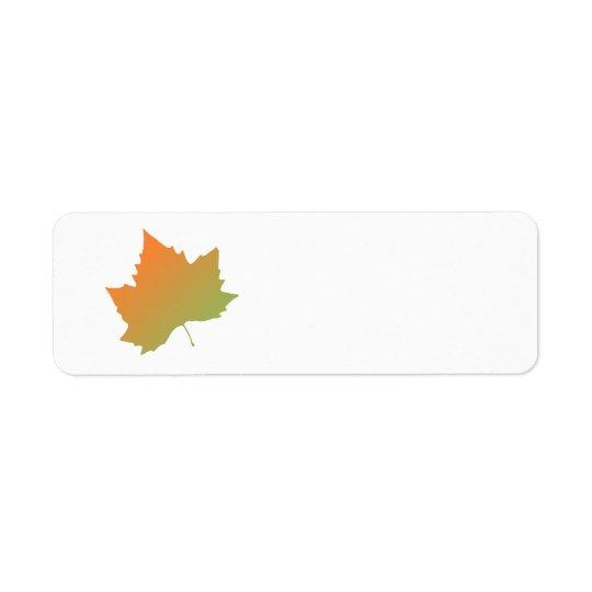 autumn maple leaf label return address label