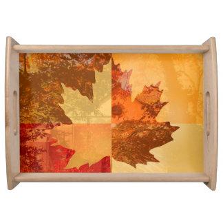 Autumn, Maple Leaf Serving Trays