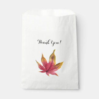 Autumn Maple Leaf Watercolor Painting Favour Bag