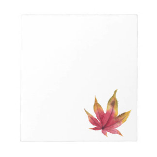 Autumn Maple Leaf Watercolor Painting Notepad