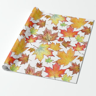 Autumn Maple Leaf Wrapping Paper