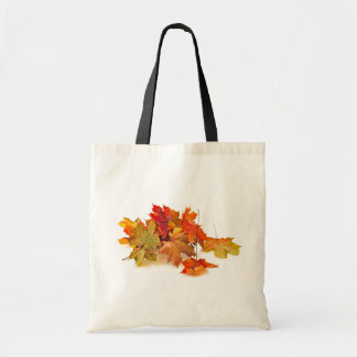 Autumn maple leaves budget tote bag